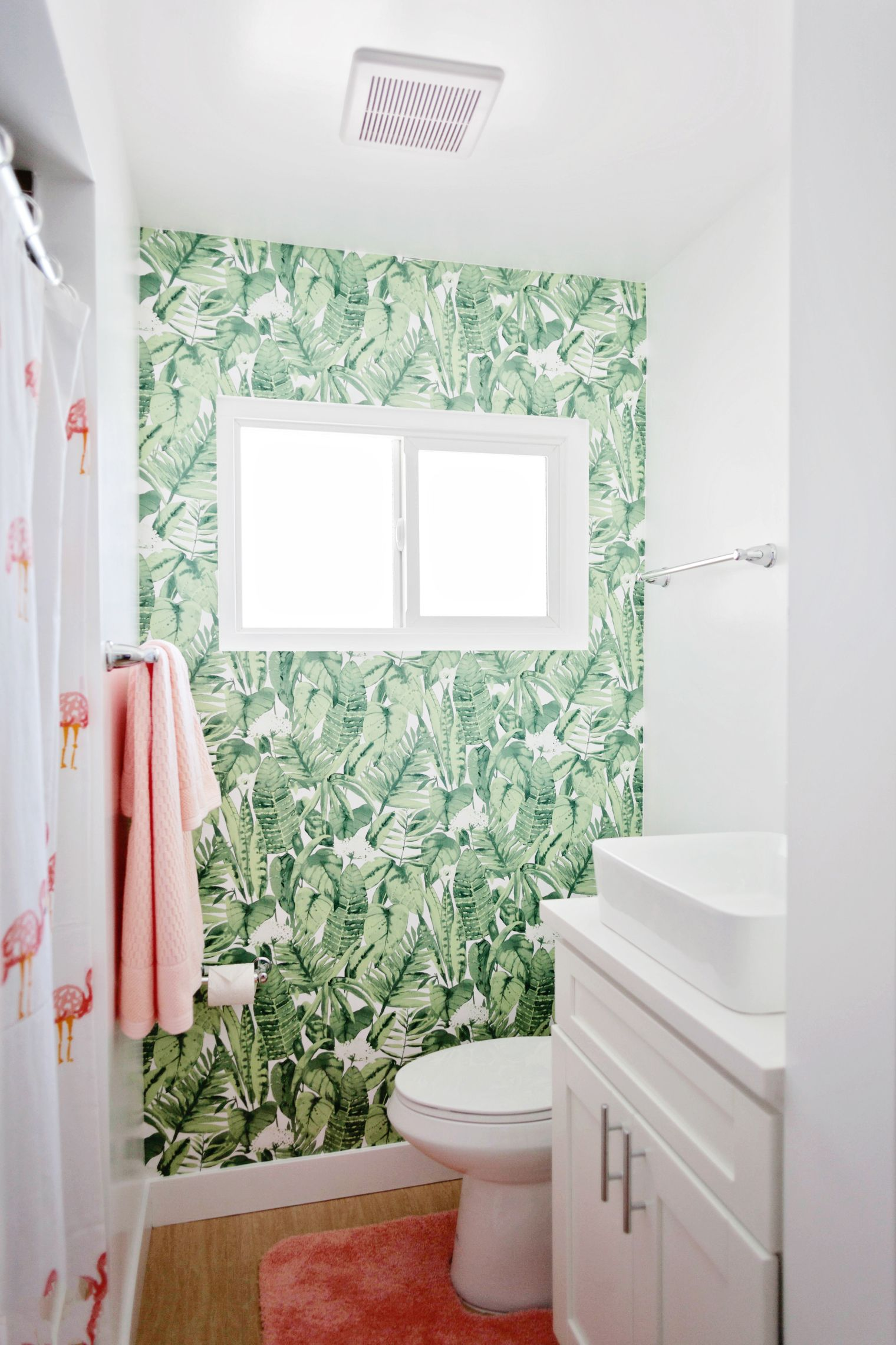 How To Install Peel And Stick Tempaper Wall Paper In A Bathroom 8 Green Room Decor Cottage Style Bathrooms Modern Master Bathroom