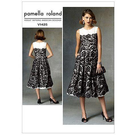 Buy Vogue Women\'s Pamella Roland Dress Sewing Pattern,1425 Online at ...