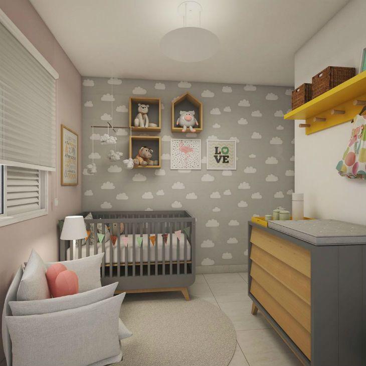 2fdac9e94 30 fotos de quarto de bebê feminino que você vai ficar totalmente encantada