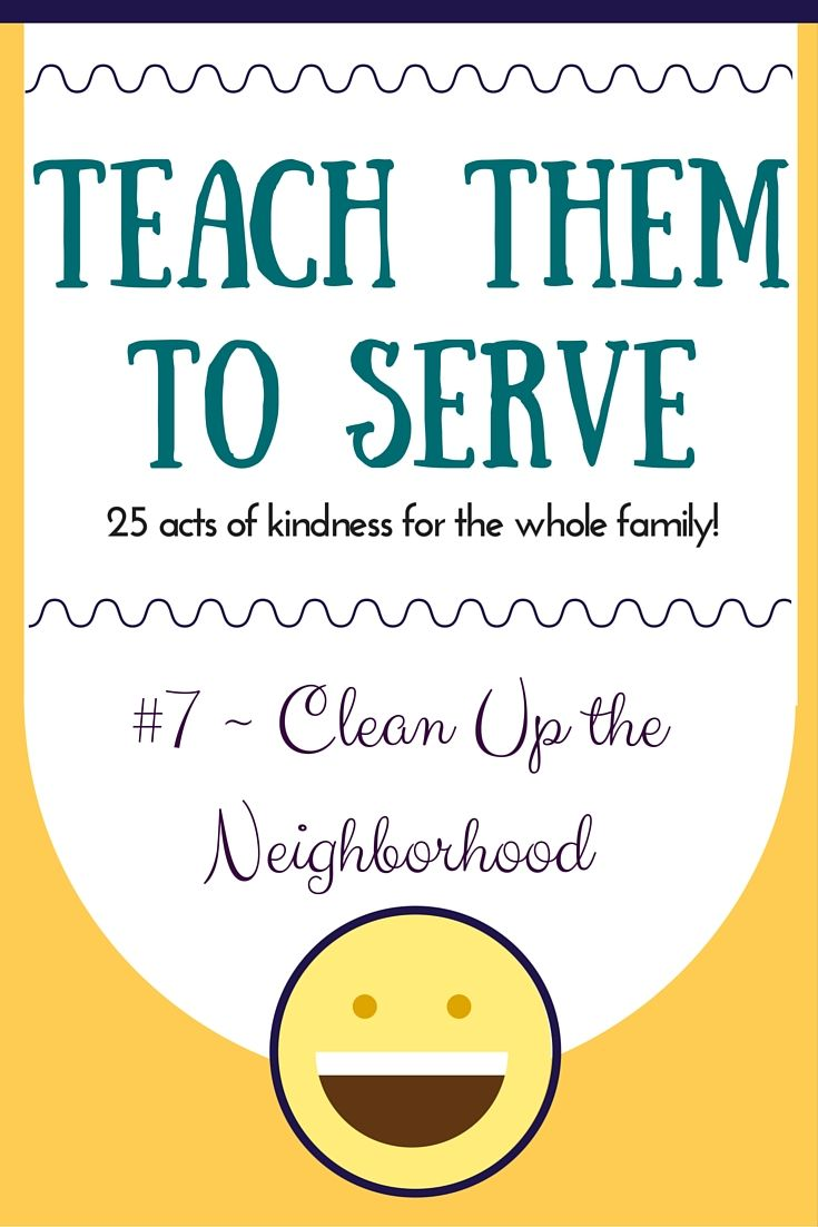 25 acts of service for the whole family!  Today's activity... cleaning up the neighborhood after trash day!