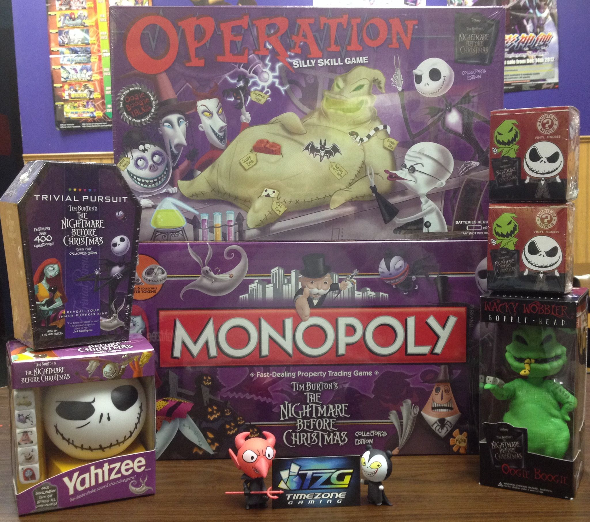 Nightmare Before Christmas Operation, Monopoly, Trivial Pursuit ...