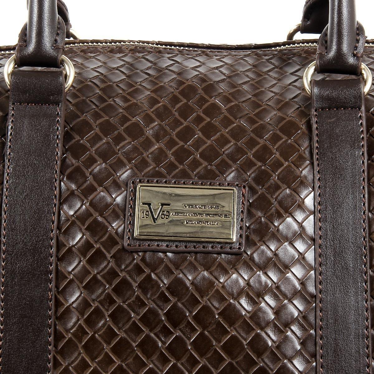 eb7909e9d113 Versace 19.69 Abbigliamento Sportivo Srl Milano Italia Mens Sport Bag  V1969015B COFFEE
