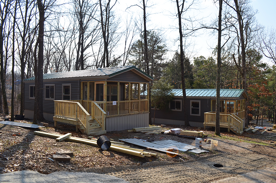 Holiday Cottages Construction At Lake Rudolph Campground RV Resort