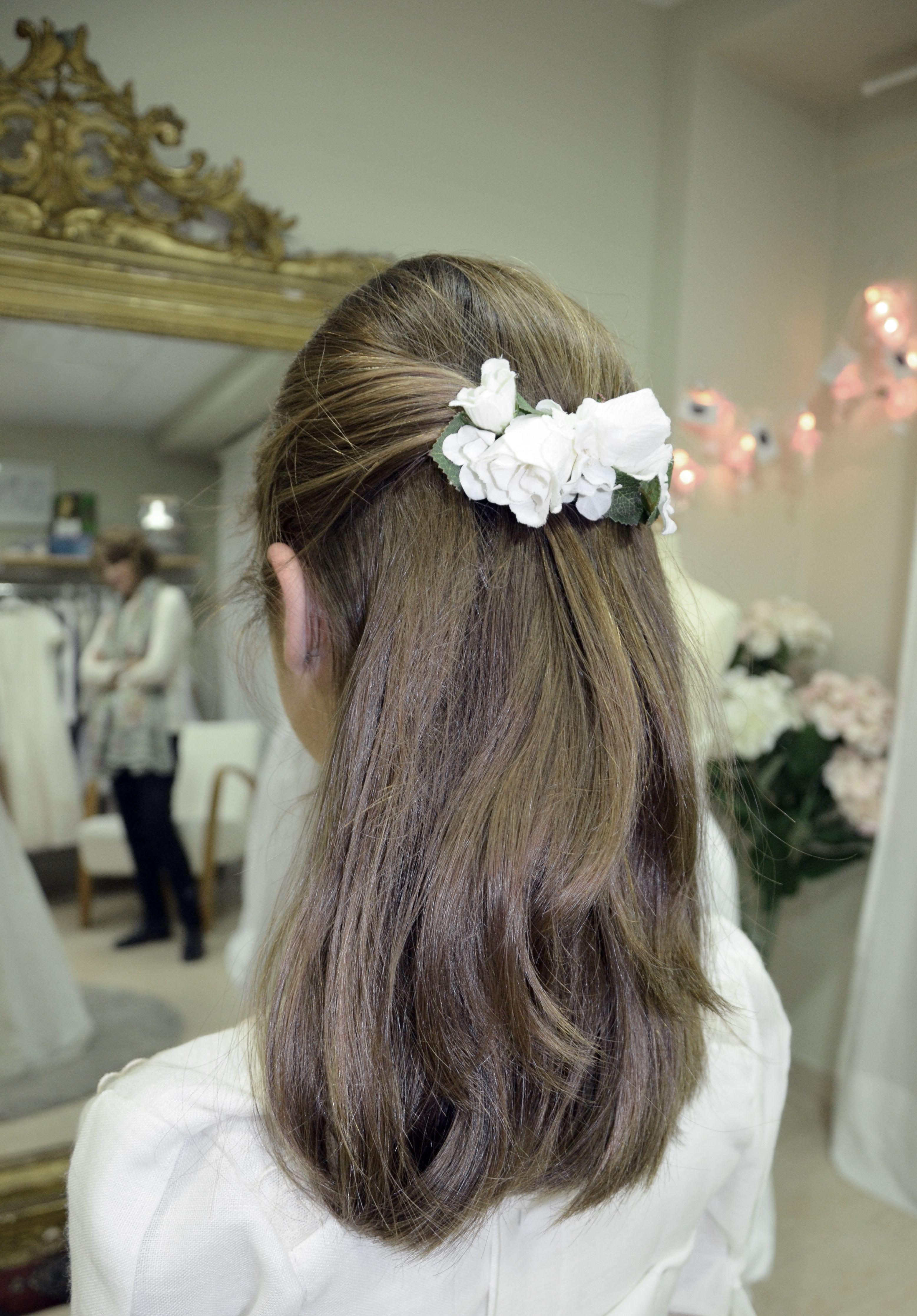 Más inspirador peinados niña comunion 2021 Fotos de tendencias de color de pelo - Pin en Complementos, coronas, tiaras, tocados