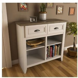 entrance table with drawers. Entryway Console Table White Oak Hallway Mud Room Storage Drawers Shelf Buffet Entrance With
