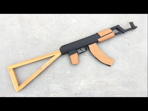 How To Make Cardboard Ak47 That Sh00ts With Magazine You