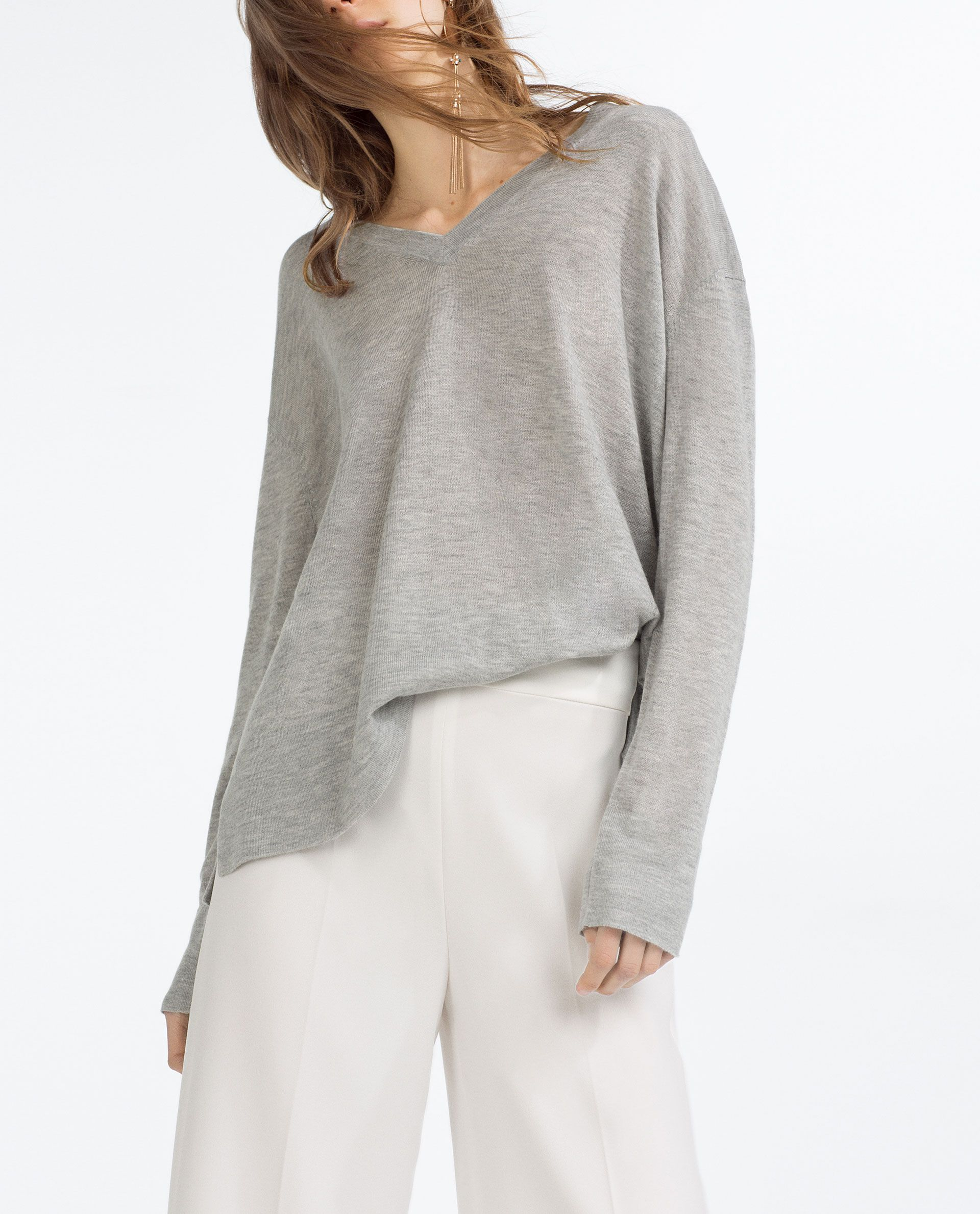 Image 1 of OVERSIZED SWEATER from Zara | Wish list - Fashion ...