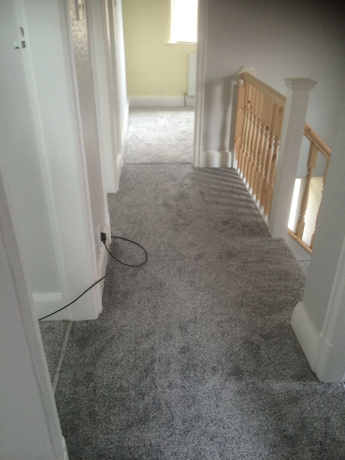 Best Grey Landing Carpet We Supplied And Fitted In A Home In 400 x 300
