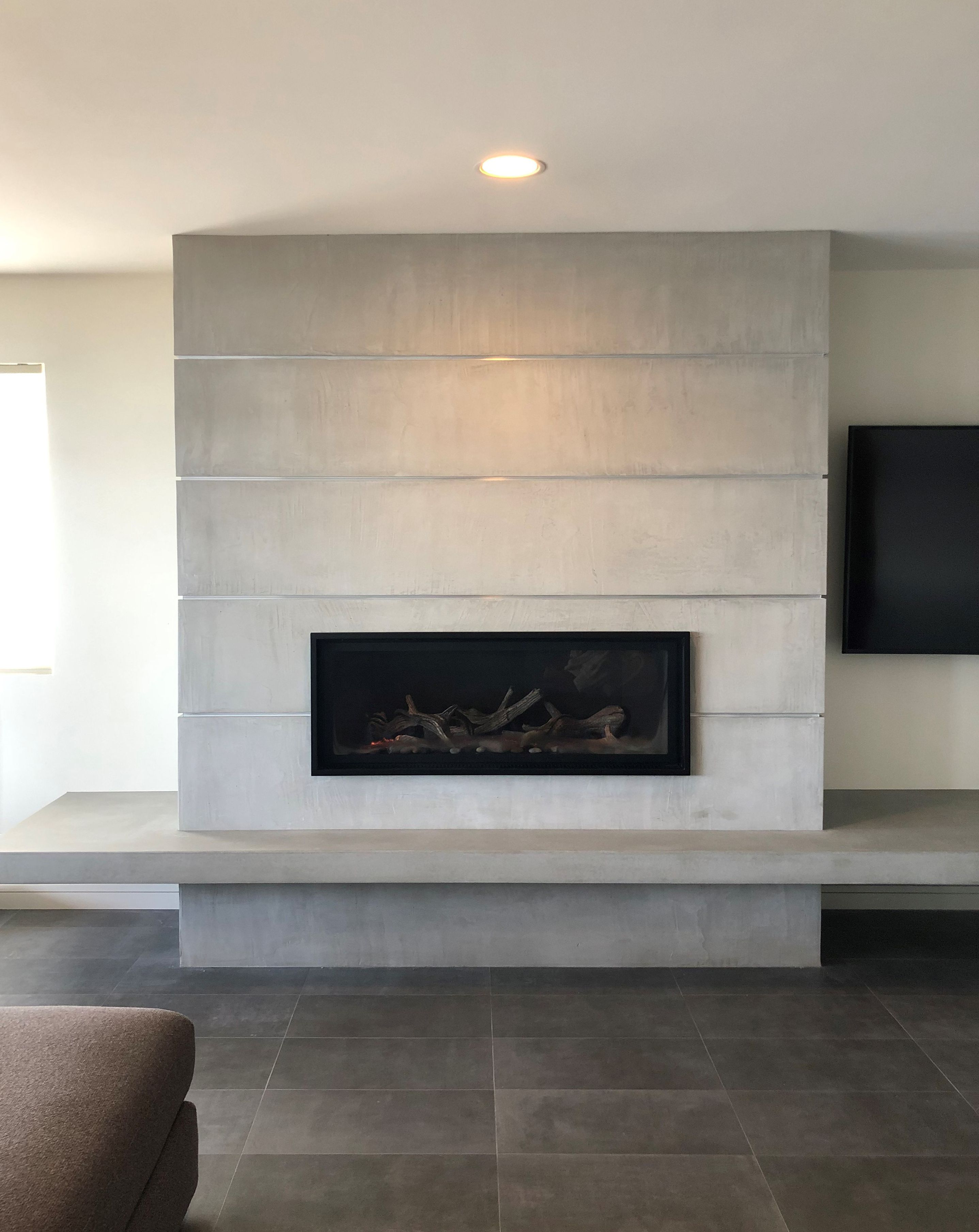 Floating Hearth   Living room decor fireplace, Contemporary ...