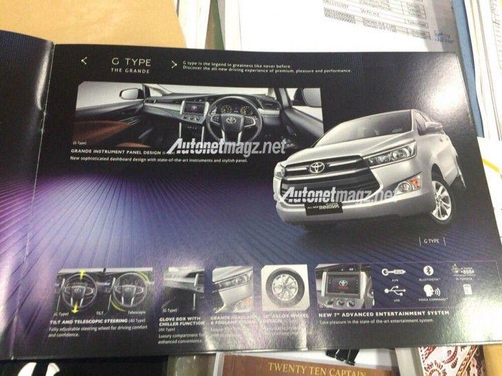Brosur All New Toyota Kijang Innova Tipe G Kijang Brosur Toyota