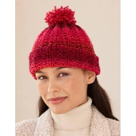 Rosy Ribbed Hat (Knit)   Knitting, Beanie knitting ...