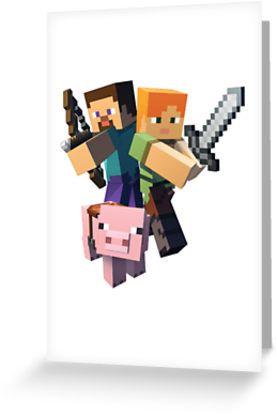 Minecraft Alex Pig Steve Minecraft Images Minecraft Pictures Minecraft Posters