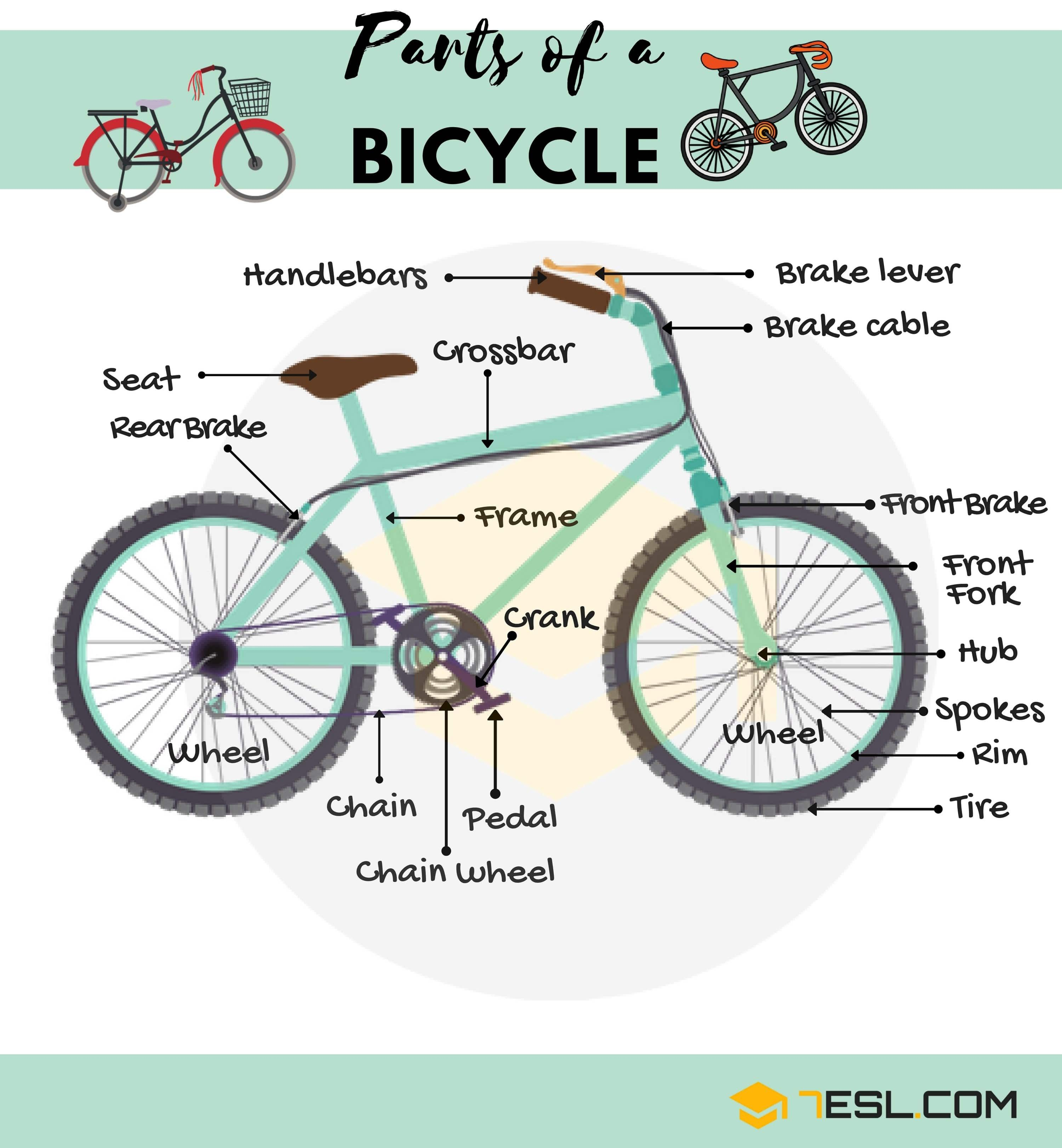 Bicycle Parts Useful Parts Of A Bike With Pictures English