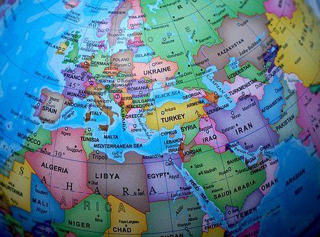 Globe Maailman Kartta Kartat Belgium Germany Travel Around