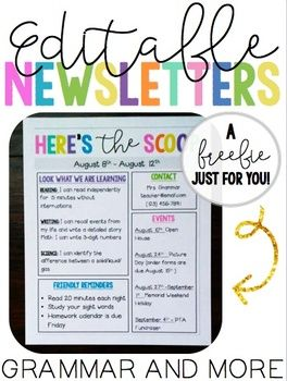 editable newsletters freebie shaping little hearts and minds