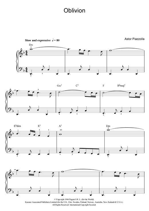 Piazzolla Oblivion Pdf