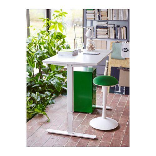 SKARSTA Bureau assisdebout blanc Desks Bureaus and Stools