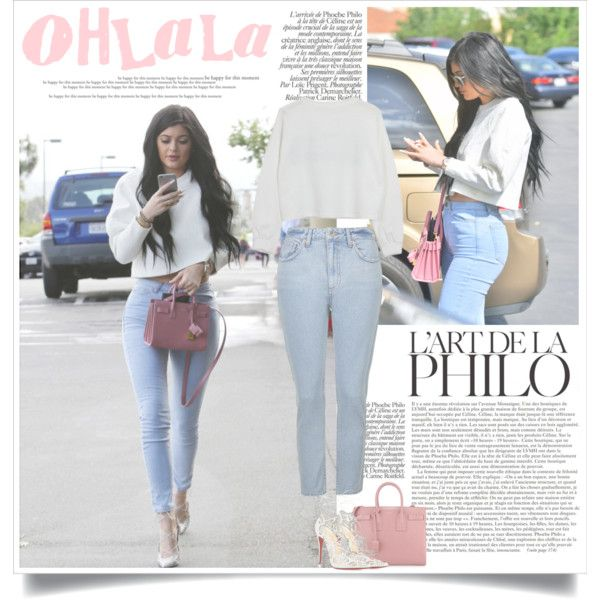 Kylie Jenner Easter look by nora-nazeer on Polyvore featuring polyvore, fashion, style, Topshop, Christian Louboutin and Yves Saint Laurent