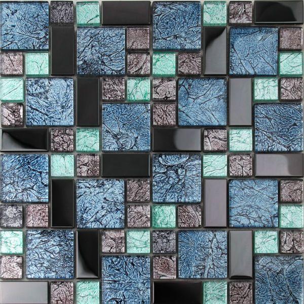crystal glass tiles sheet colors mosaic art wall stickers kitchen backsplash metal tile design bathroom shower - Metal Tile Bedroom Design