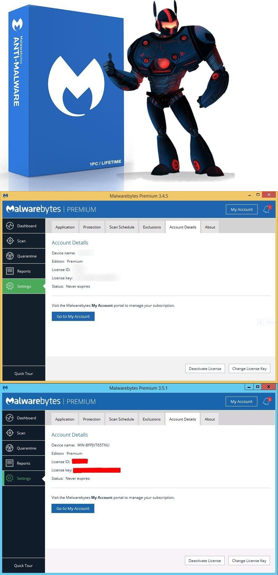 Antivirus and Security 175689: 2X Malwarebytes Anti-Malware Premium