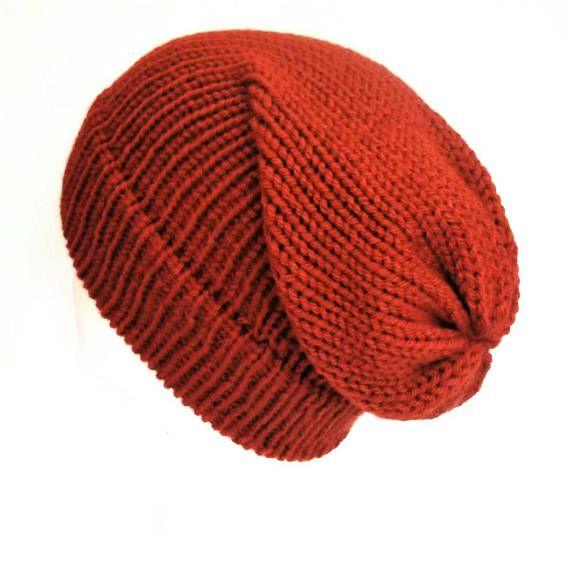 Copper slouch hat slouch beanie hat knit skull cap slouchy beanie unisex slouchy  knit beanie winter beanie hat dreadlock hat vegan hat  slouchybeaniehat ... 7d9c4c117570