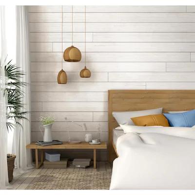 Ufp Edge Rustic 9 25 Sq Ft White Barnwood Wood Shiplap Wall Plank Kit At Lowes Com In 2020 Wood Shiplap Wall White Shiplap