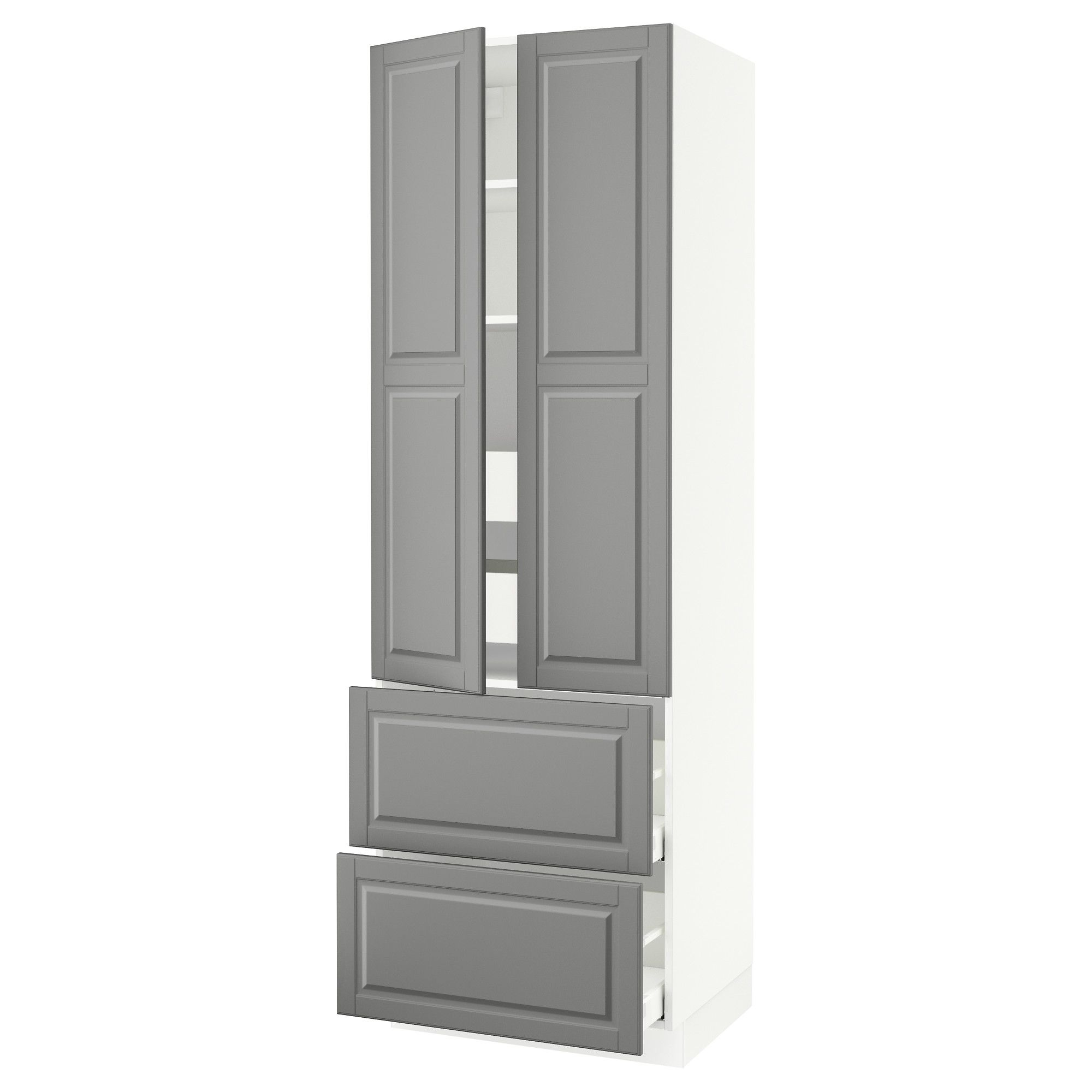 IKEA SEKTION white High cabinet w 2doors & 4 drawers Frame colour