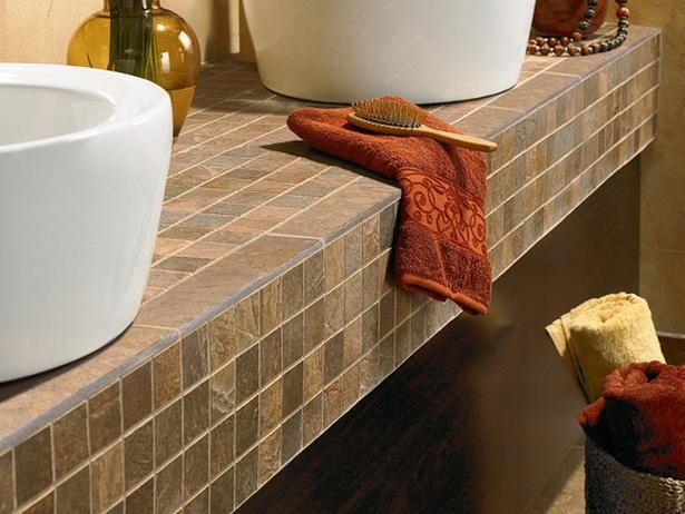 Bathroom Countertops · Tile Countertops | Slate ...