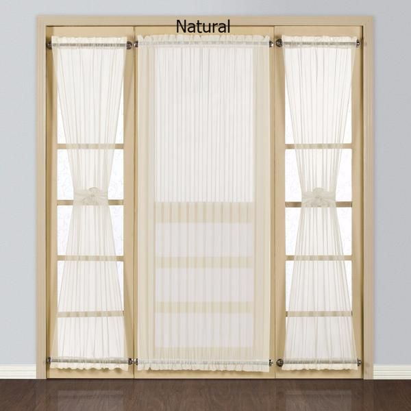Pin By The Curtain Shop On Door Panels With Images White Paneling Panel Doors Curtain For Door Window