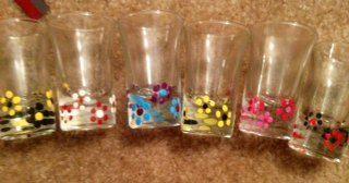 Cute Way To Decorate Shot Glasses Diy Wine Glasses Painted Diy