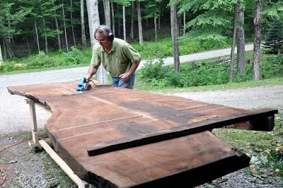 Gentil Dan Mosheim And Dorset Custom Furniture At Work On A Claro Walnut Slab For  Dining Table | Guild Of Vermont Furniture Makers