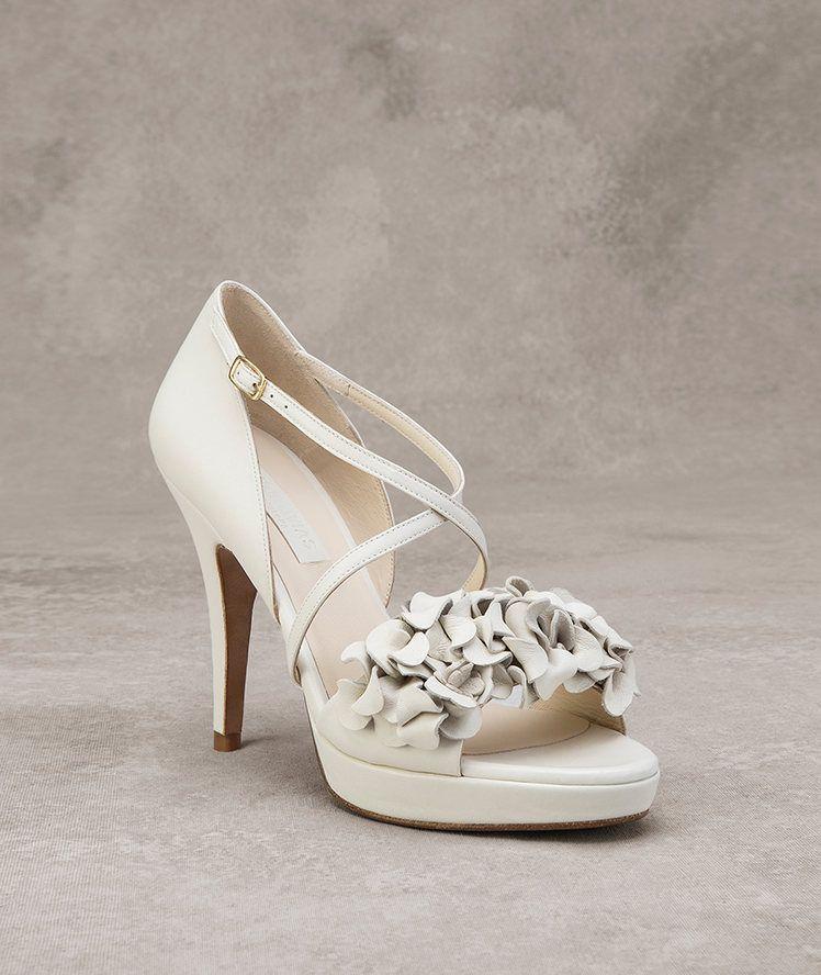 Scarpe Sposa 2016 Pronovias.Danielle Leather Shoe As Accessory Pronovias Pronovias Www
