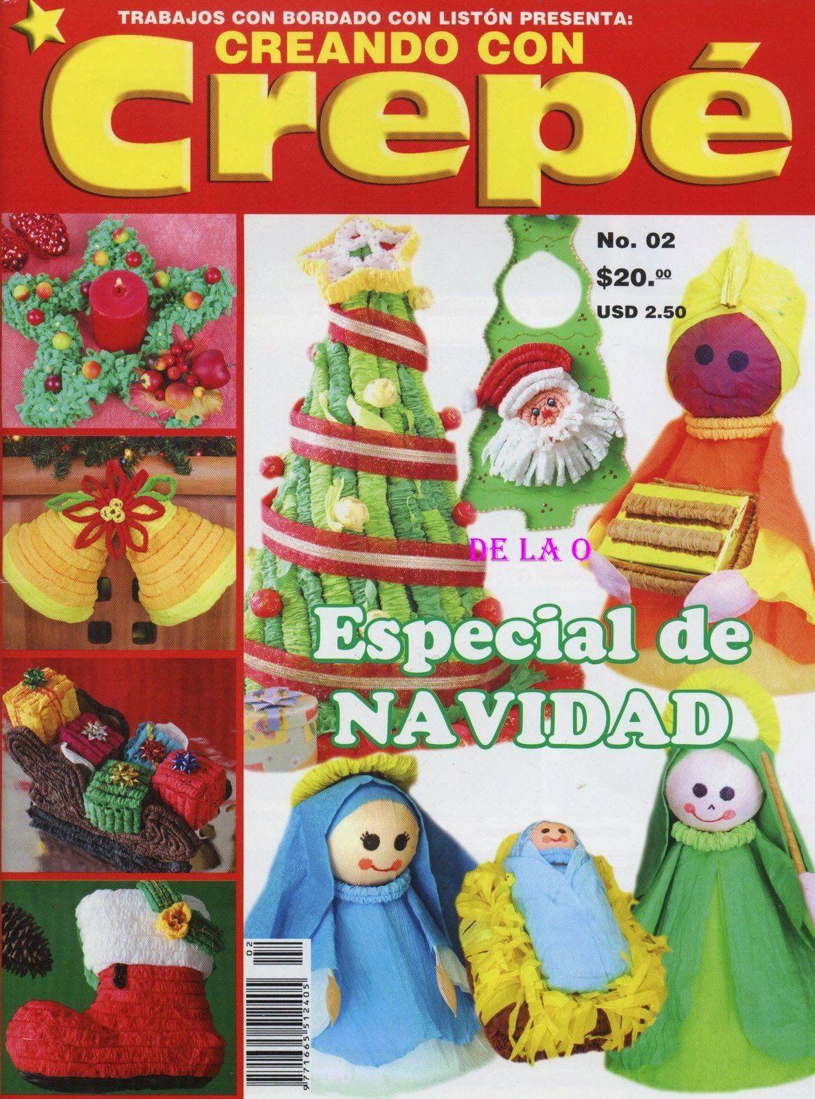 Manualidades en papel crepe para navidad revistas de navidad pinterest crepes and craft - Manualidades de navidad con papel ...