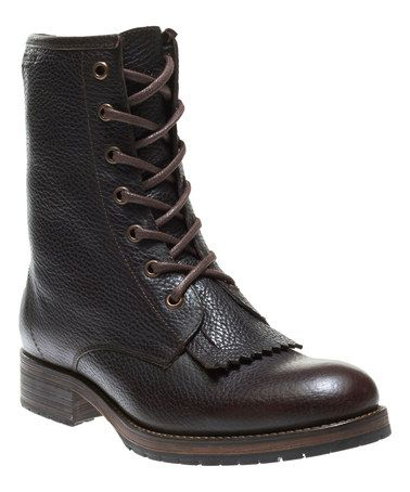 Another great find on #zulily! Burgundy Rosie Leather Lace-Up Boot - Women #zulilyfinds