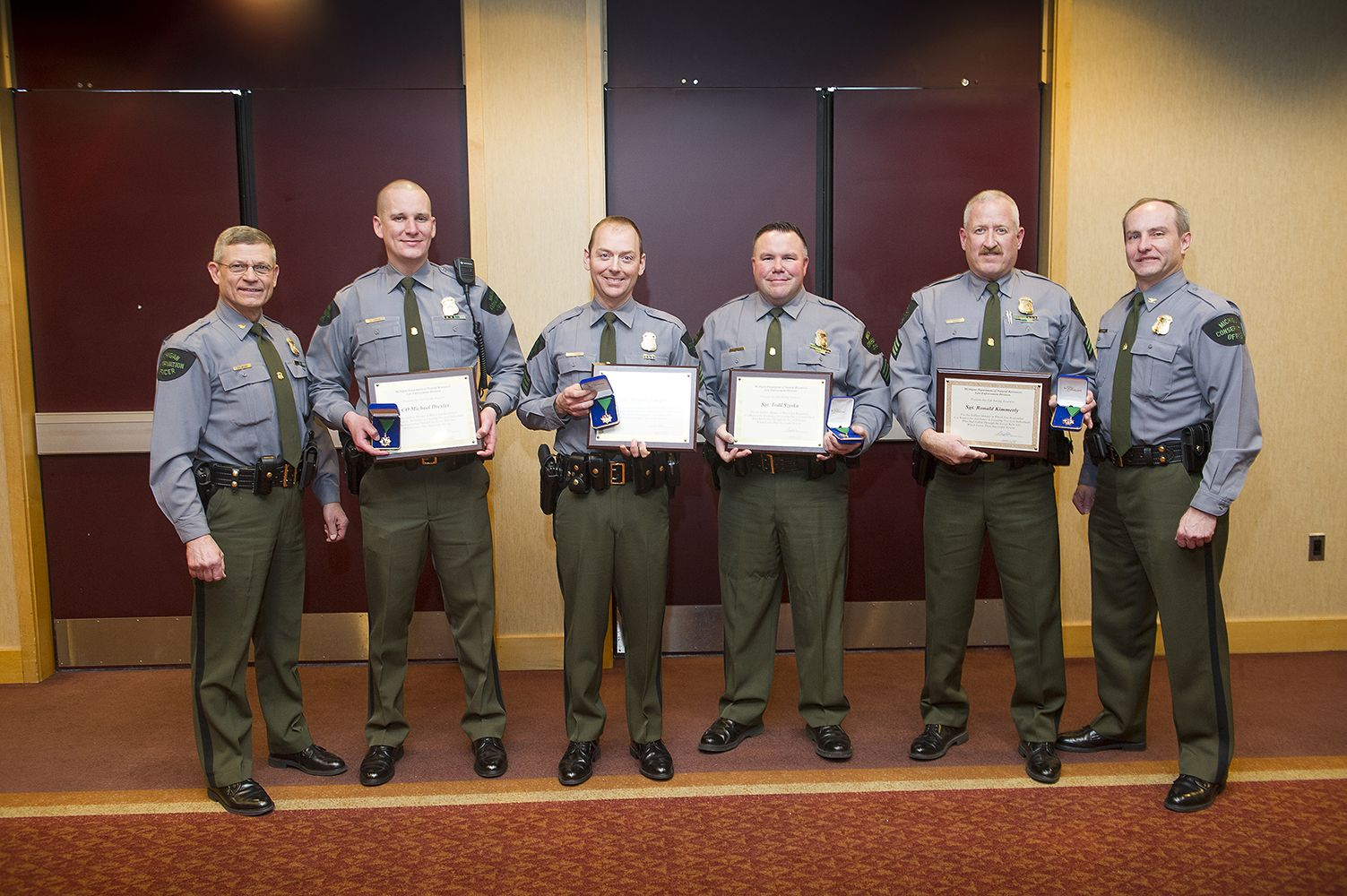 Four Dnr Conservation Officers Honored With Lifesaving Awards Officer Conservation Honor