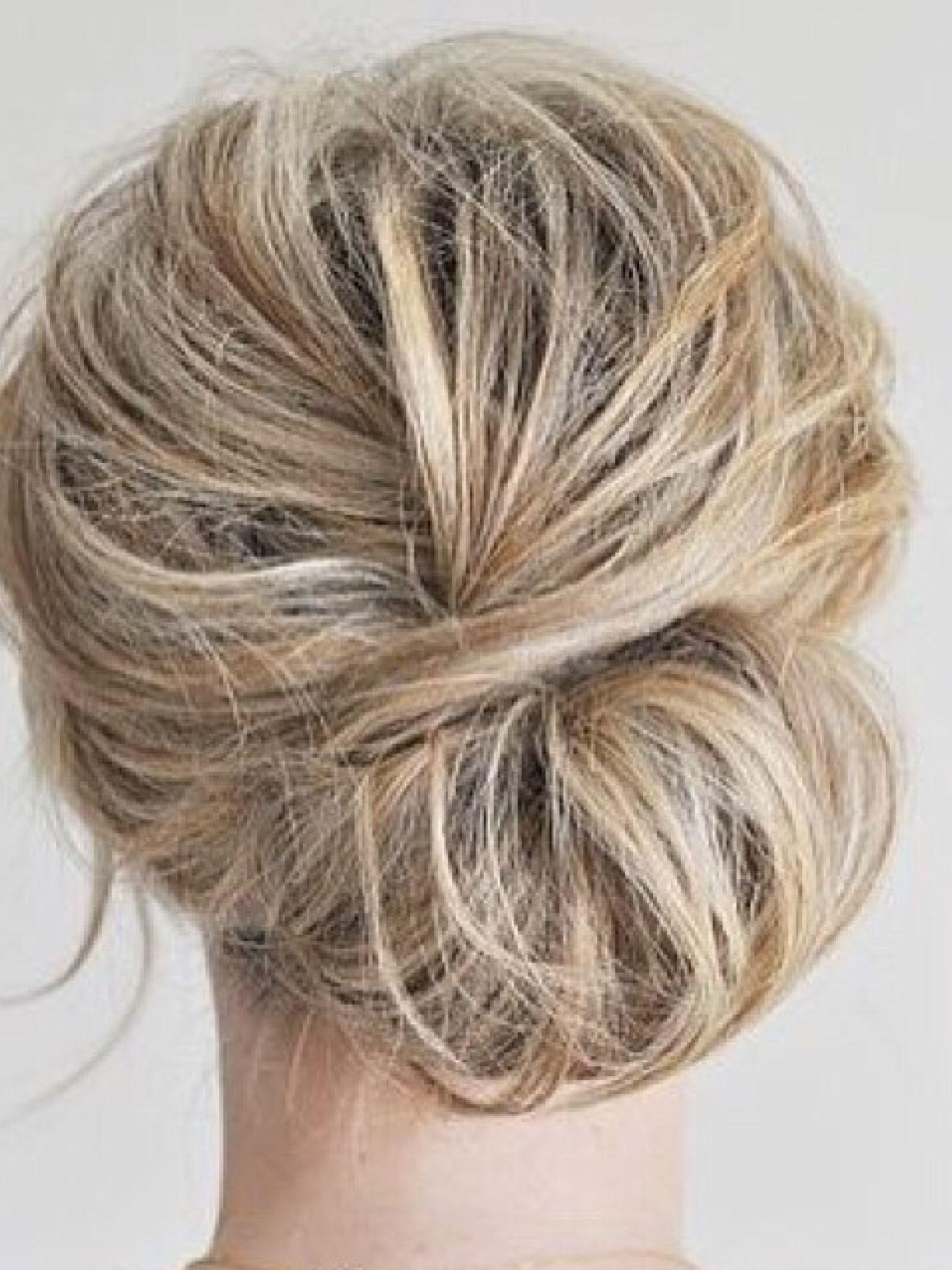 Brudehår Hår Pinterest Hair Style Makeup And Messy Ponytail - Diy chignon boheme