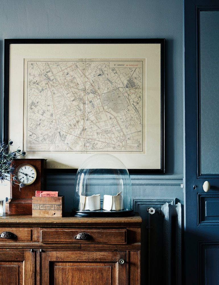 Blue Color Paint By Boho Diy Vintage Decor Painted Armoire Painted Furniture