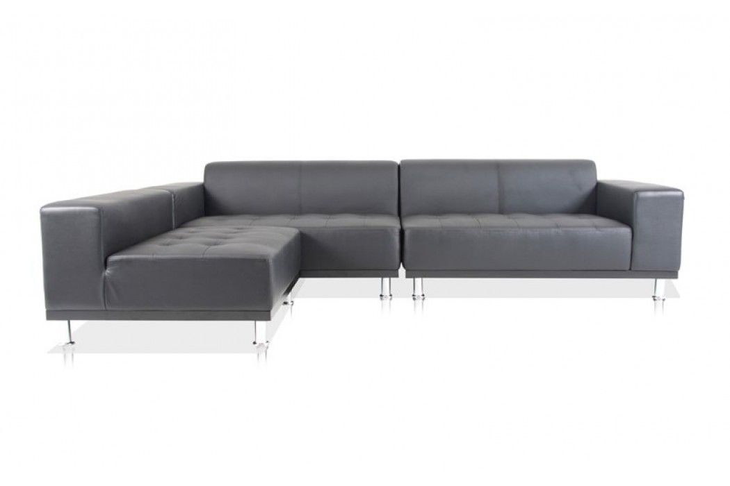 COMES IN WHITE- Phantom Sectional Leather Modern Sofa Black ...