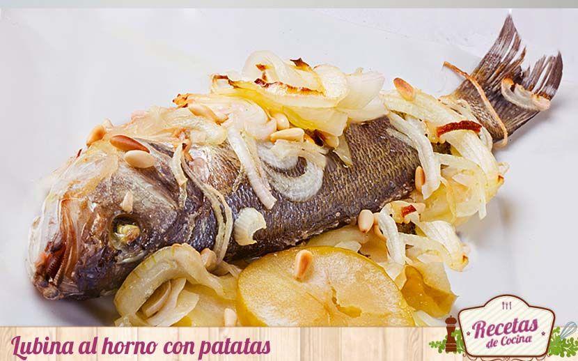 Lubina Al Horno Con Patatas Panaderas Receta Lubina Al Horno Pescado Al Horno Y Recetas De Cocina