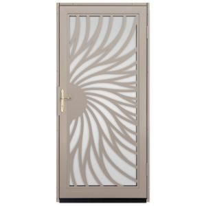 Unique Home Designs 36 in. x 80 in. Solstice Tan Surface Mount ...