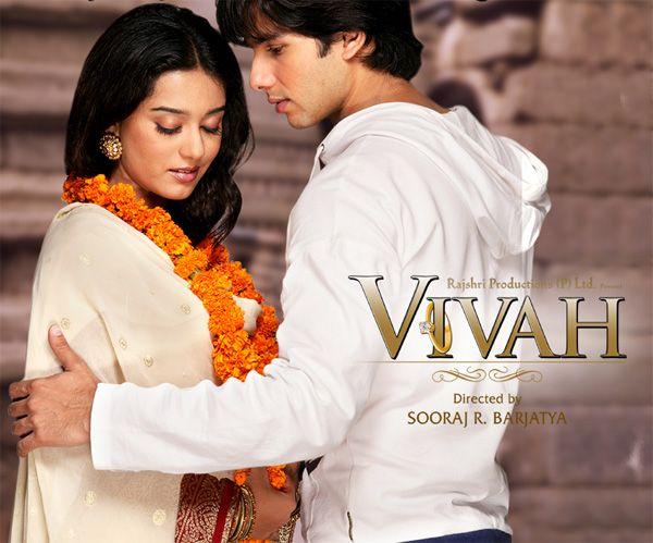 Shahid Kapoor And Amrita Rao From The Movie Vivah Bollywood Music Shahid Kapoor Hindi Movies