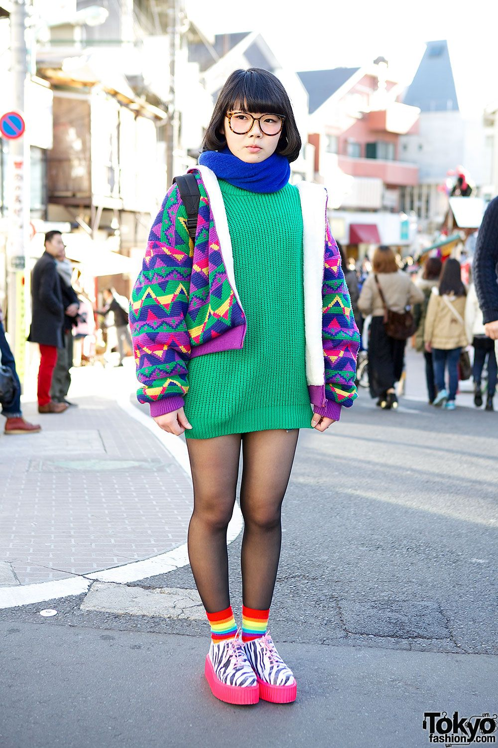 Colorful Harajuku Street Fashion
