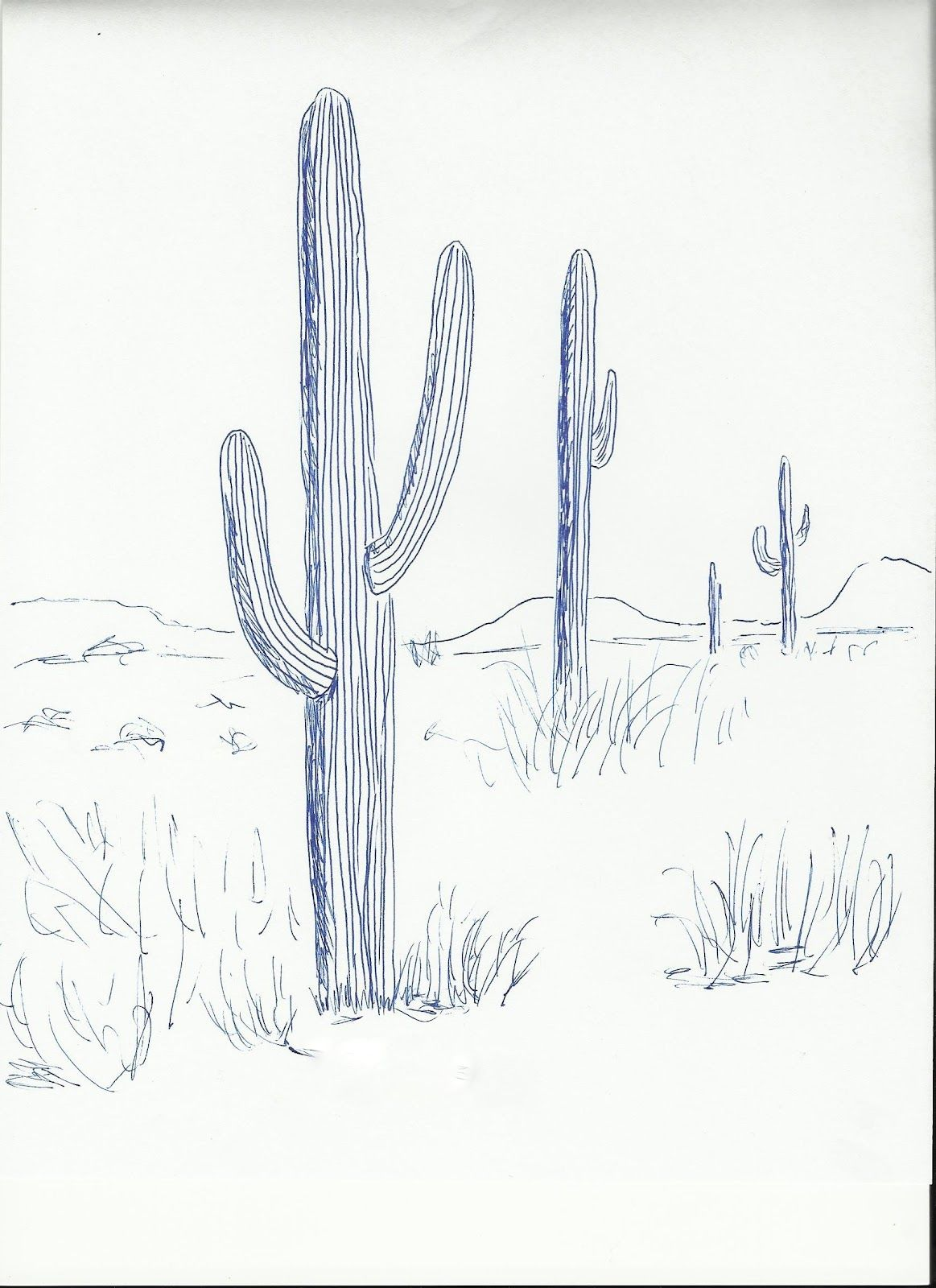 Cactus | Art class ideas | Teach art | Pinterest | Cactus, Dibujo y ...