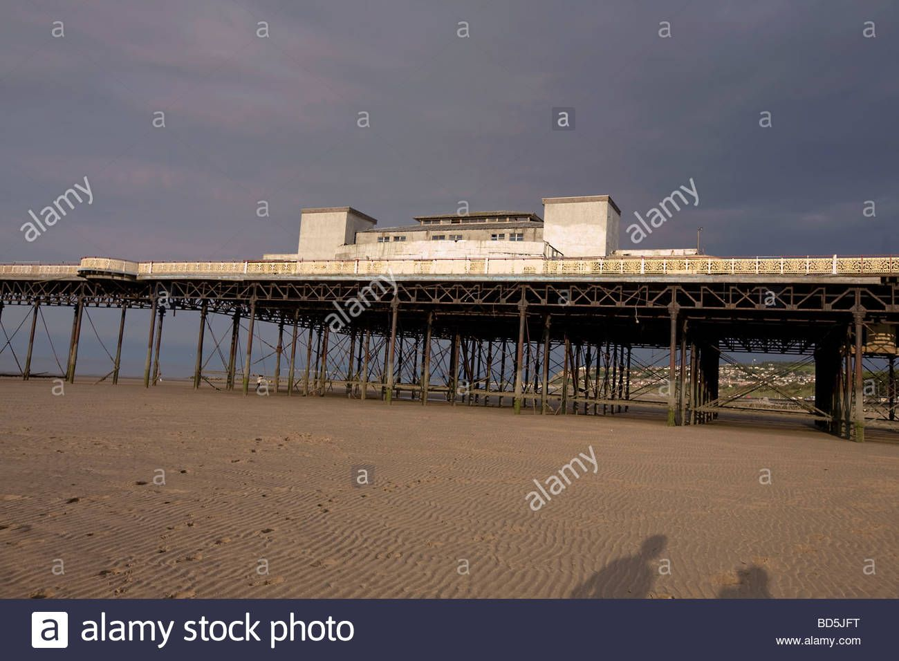 Old Decaying Pier On A Beach Stock Photo, Royalty Free Image: 25325212 - Alamy