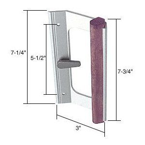 Mortise Style Sliding Glass Patio Door Handle 5 1 2 Screw Holes Wood Aluminum By C R Laurence 30 44 Sliding Glass Doors Patio Door Handles Home Hardware
