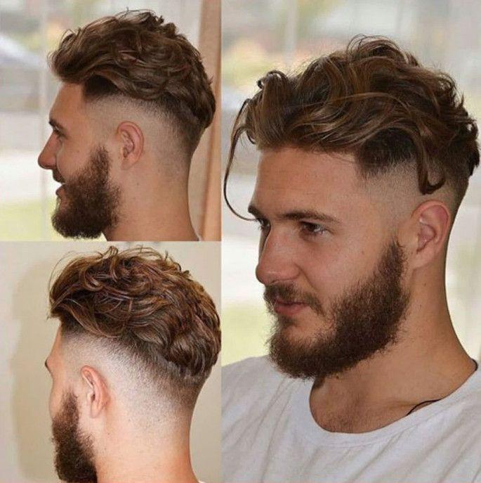 High Fade With Wavy Medium Length Hairstyles For Men Wavy Hair Men Long Hair Styles Men Mens Hairstyles Medium