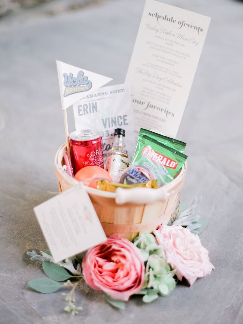 Perfect little welcome baskets #cedarwoodweddings | Favors, Treats ...