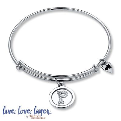 Charmed Memories Love Bangle Bracelet Sterling Silver oIEr8MeZ