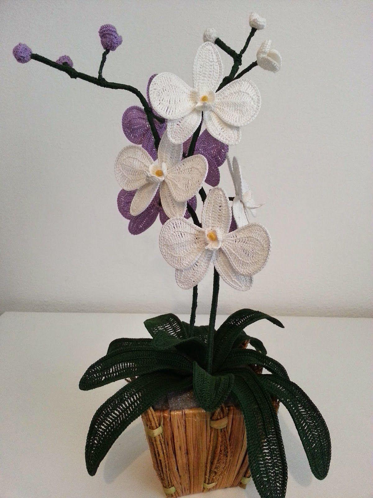 Il Blog di Sam: Spiegazione dell'orchidea all'uncinetto...e di tantissimi altri fiori
