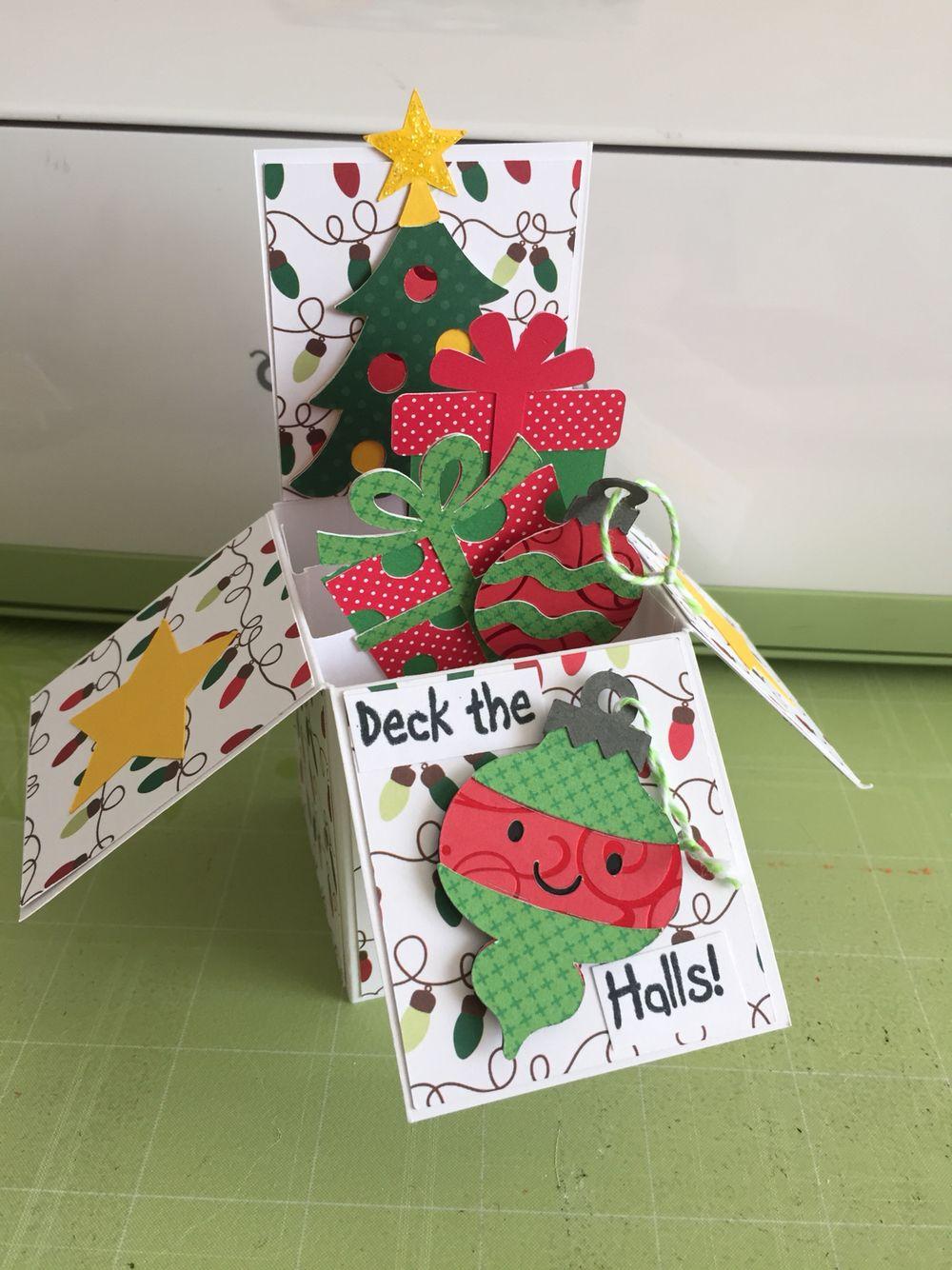 Cricut christmas box card create a critter 2 simply